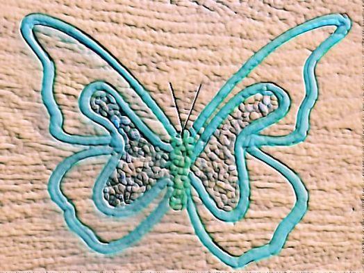 Wooden Butterfly